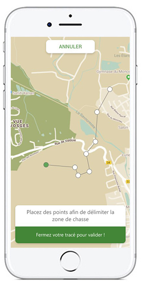 Visuel de la section carte de l'application Sachassou